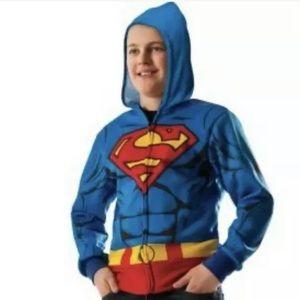 dc comics childs superman zip up hoodie NWTs